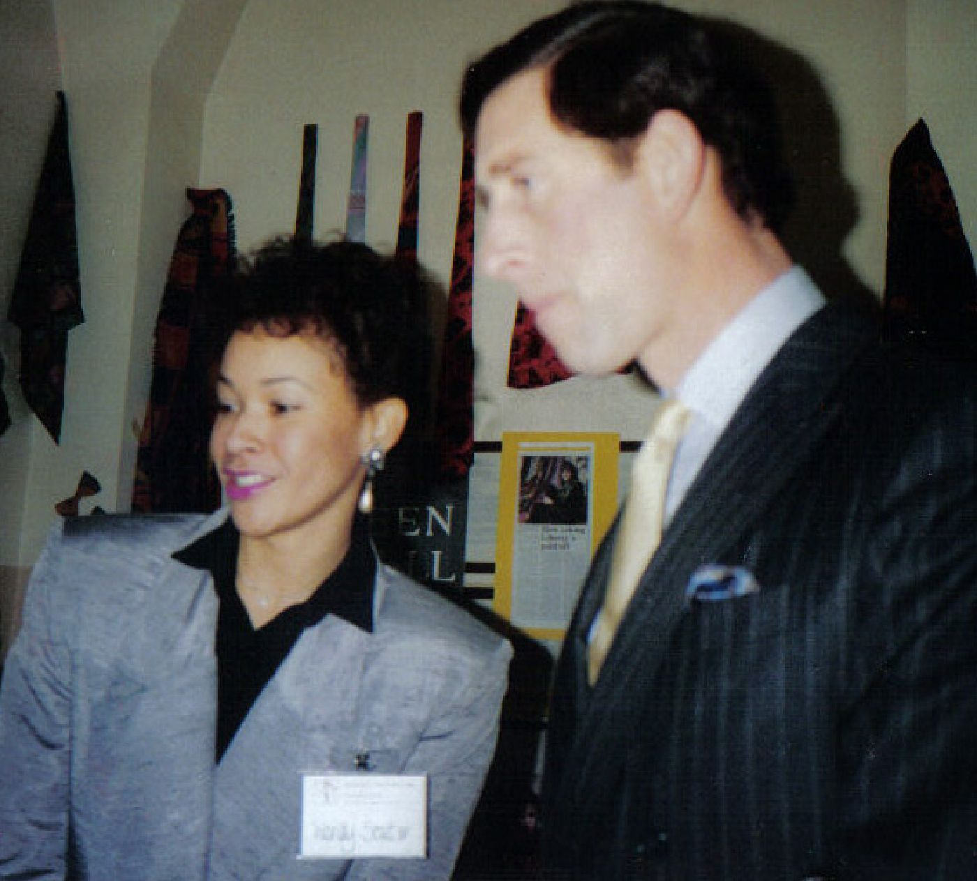 Wendy Souter with HRH Prince Charles at opening of OTC - UK in 1988